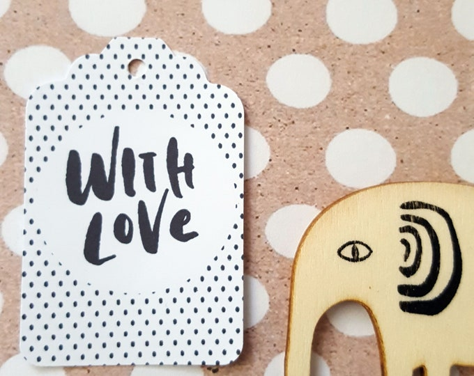 With Love Baby Shower Favour Tags