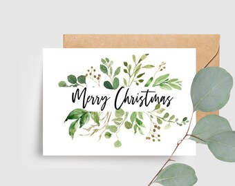 Botanical Merry Christmas Card