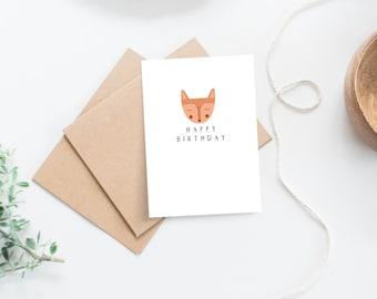Boho Fox Birthday Card
