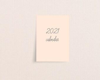 Modern 2021 Desk Calendar Cards
