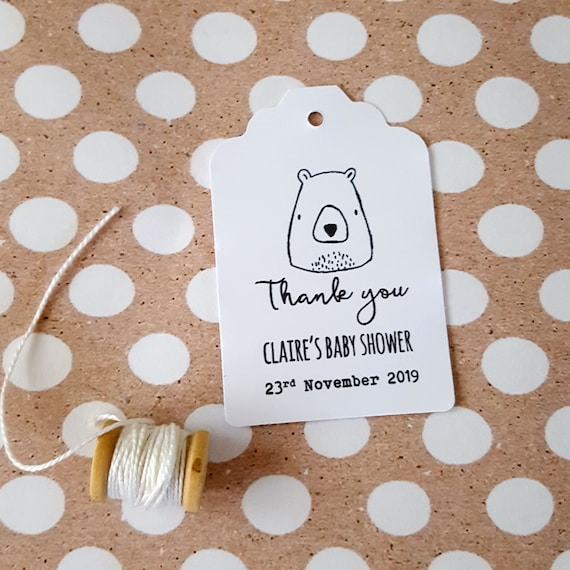 Bear Baby Shower Favour Tags