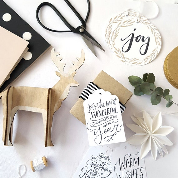 Modern Merry Christmas Gift Tags