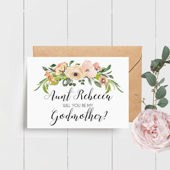 Personalised Godmother Proposal Card