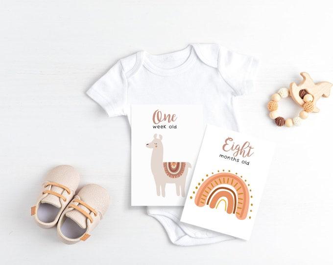 Featured listing image: Boho Baby Milestone Cards