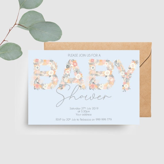 Floral Baby Shower Invitations (20)