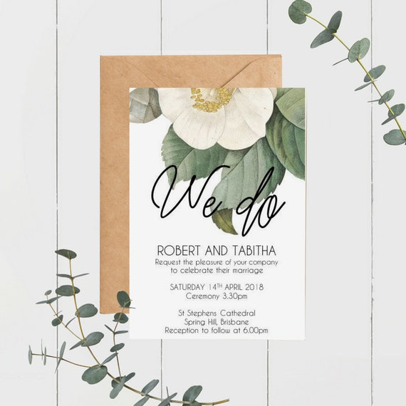 Vintage Camellia Wedding Invitations (30)