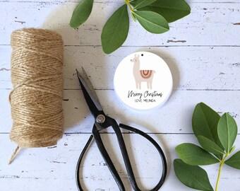 Boho Llama Christmas Gift Tags (12) | Personalised Christmas Favour Tags