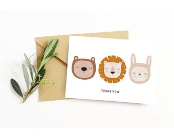 Set of 6 Baby Shower Thank you Cards | Boho Baby