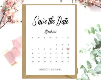 Calendar Save The Date cards x 20