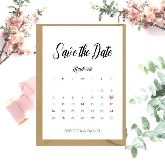 Calendar Save The Date cards x 20