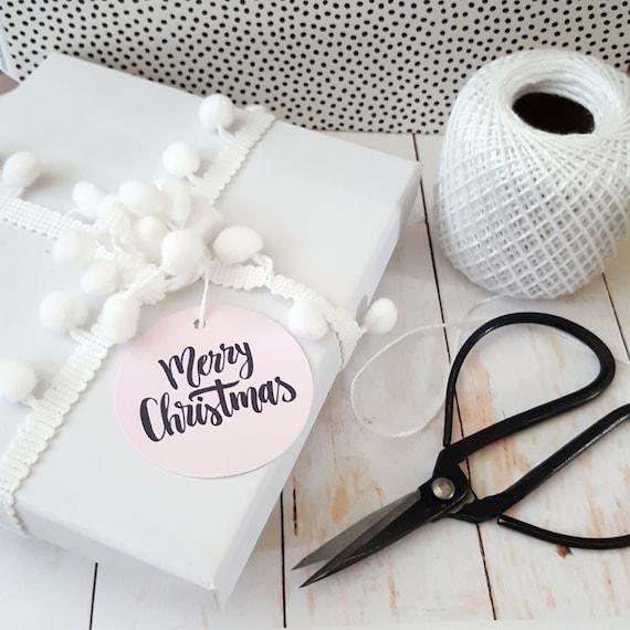 Modern Minimalist Merry Christmas Gift Tags