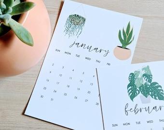 2022 House Plant Desk Calendar Cards