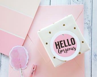 Hello Gorgeous Gift Tags x 12