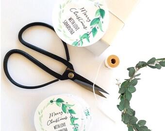 Personalised Greenery Wreath Botanical Christmas Gift Tags (24)