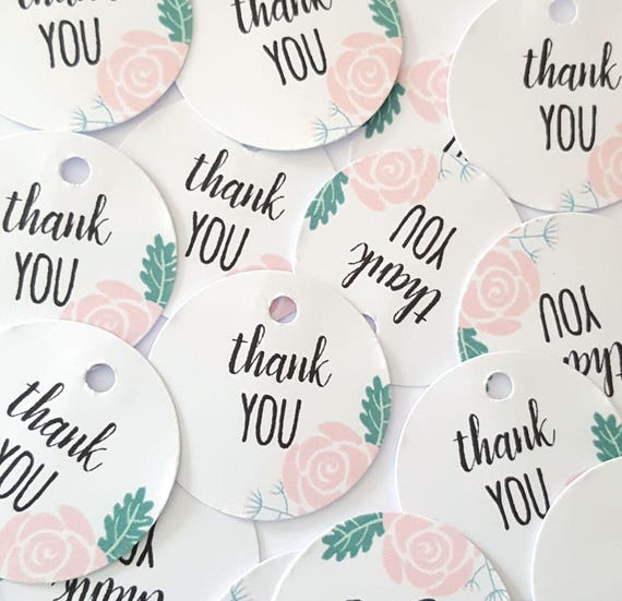 Boho Chic Floral Mini Thank you Gift Tags