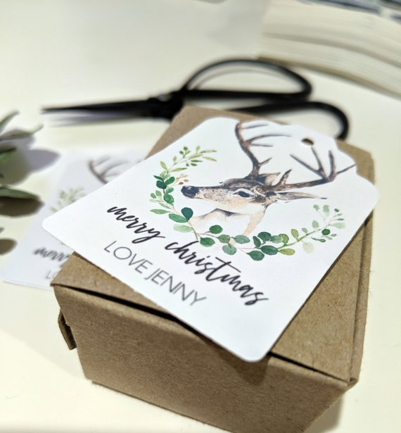 Woodland Reindeer Christmas Gift Tags