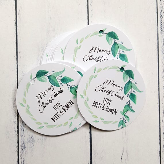 Botanical Merry Christmas Gift Tags (12)