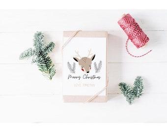 Cute Reindeer Merry Christmas Card