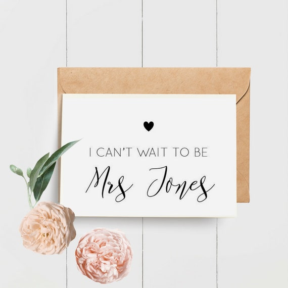 I Can't Wait to Be Mrs Card