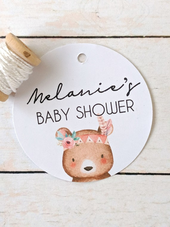 Tribal Bear Baby Shower Favour Tag (20)