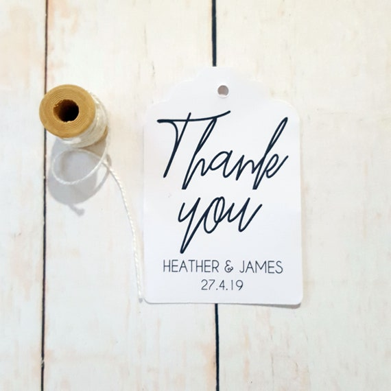 Personalised Wedding Thank you Favour Tags (20)