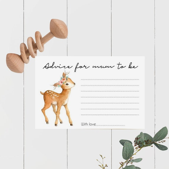 Deer Advice for Mum to Be cards (20)