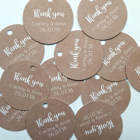 Personalised Mini Wedding Favour Tags