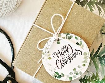 Eucalyptus Wreath Merry Christmas Gift Tags (250)