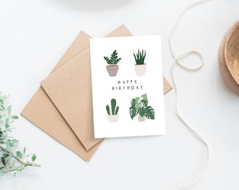 Personalised Floral Happy Birthday Card