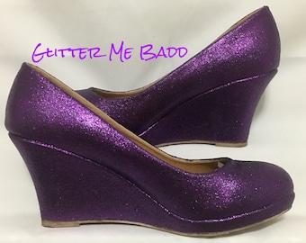 Purple Wedges Etsy