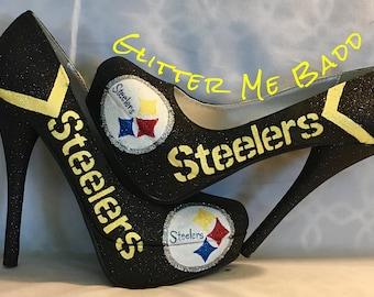 61a9a3815319 Pittsburgh Steelers Glitter heels
