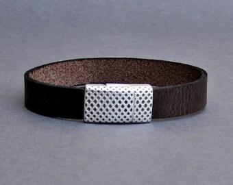 Men's Bracelet - Men's Leather Bracelet - Men's Cuff Bracelet - Men's Jewelry - Men's Gift - Boyfriend Gift - Customized On Your Wrist