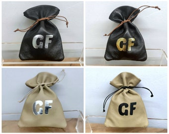50x Small Jewelry Pouch Bag, Jewelry Packaging Pouch Bag, Custom Logo Gift Bag, Leather Drawstring Pouch Bag, Reusable Bag, 50 pieces