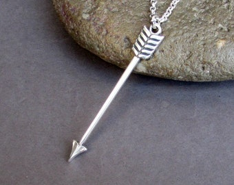 NEW DESIGN Arrow Men's Necklace Arrowhead Men's  Long Chain Necklace Men's Silver Necklace Mens Jewelry