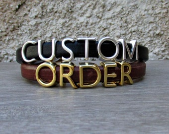 Mens Personalized Bracelet Customized Mens Women Bracelet Letters Bracelet Make Yours
