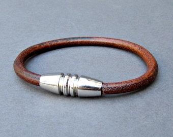 Bracelet For Him, Leather Mens Bracelet, For Men, For Husband,  For Boyfriend, Boyfriend Gift, Mens Gift Customized On Your Wrist