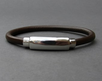 Anniversary Gift For Husband, For Boyfriend, Bracelet For Him, Mens Leather bracelet Cuff Gift For Men Customized On Your Wrist