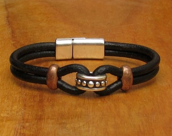 Gift For Men, Bracelet For Men, Leather Bracelet, For Husband,  For Boyfriend, For Him, Boyfriend Gift, Mens Gift