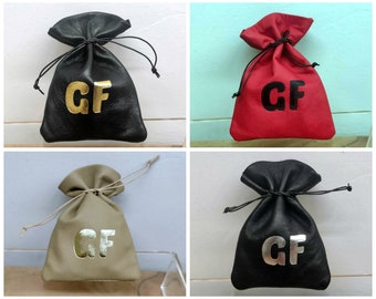 100x Small Jewelry Pouch Bag, Jewelry Packaging Pouch Bag, Custom Logo Gift Bag Leather Drawstring Pouch Bag, Reusable Bag, 100 pieces