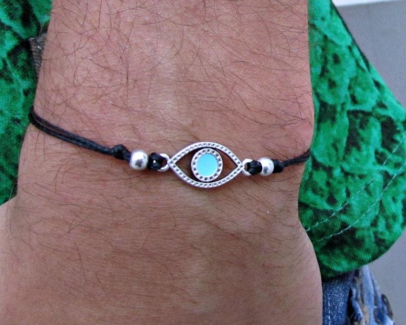 Evil Eye Mens Bracelet Anklet Women Bracelet Anklet Adjustable