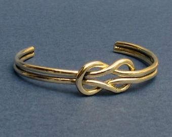 Mens Knot Bracelet, Bronze, Sterling Silver, Sailors Knot Bracelet Nautical Bracelet Unisex Bracelet
