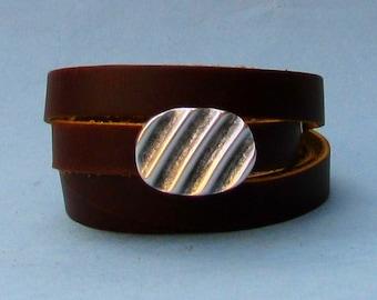 Mens Leather Wrap Bracelet, Mens, For Men, Boyfriend, Mens Gift, For Husband, Gift for Men, For Him, Boyfriend Gift, Christmas Gift