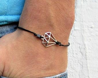 Diamont Bracelet For Mens, Mens Womens Bracelet Anklet, Adjustable