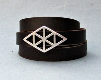 Wrap Mens Leather Bracelet, Mens, For Men, Boyfriend, Mens Gift, For Husband, Gift for Men, For Him, Boyfriend Gift, Christmas Gift