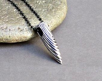 Men's Bullet Necklace Men's Stainless Steel Necklace With Chain Men's Silver Necklace Mens Jewelry