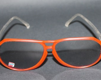 8c1ccc79d0 1st April Fool s Day Sale 1990s USSR New Soviet Russian Vintage Sunglasses  Fashionable red Frame ппп in Box