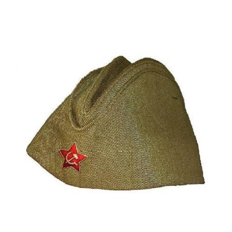6aa4659d368 USSR Russian Military Garrison cap field forage WW2 for