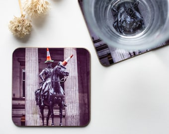 Glasgow Duke of Wellington Statue Photo Coasters