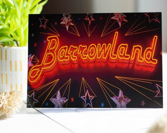Glasgow Barrowlands Sign Photo Greeting Cards