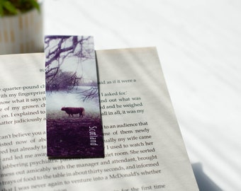 Highland Cow Magnetic Bookmarks   Landscape Photography
